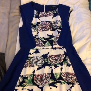 Blue Floral French Connection Dress